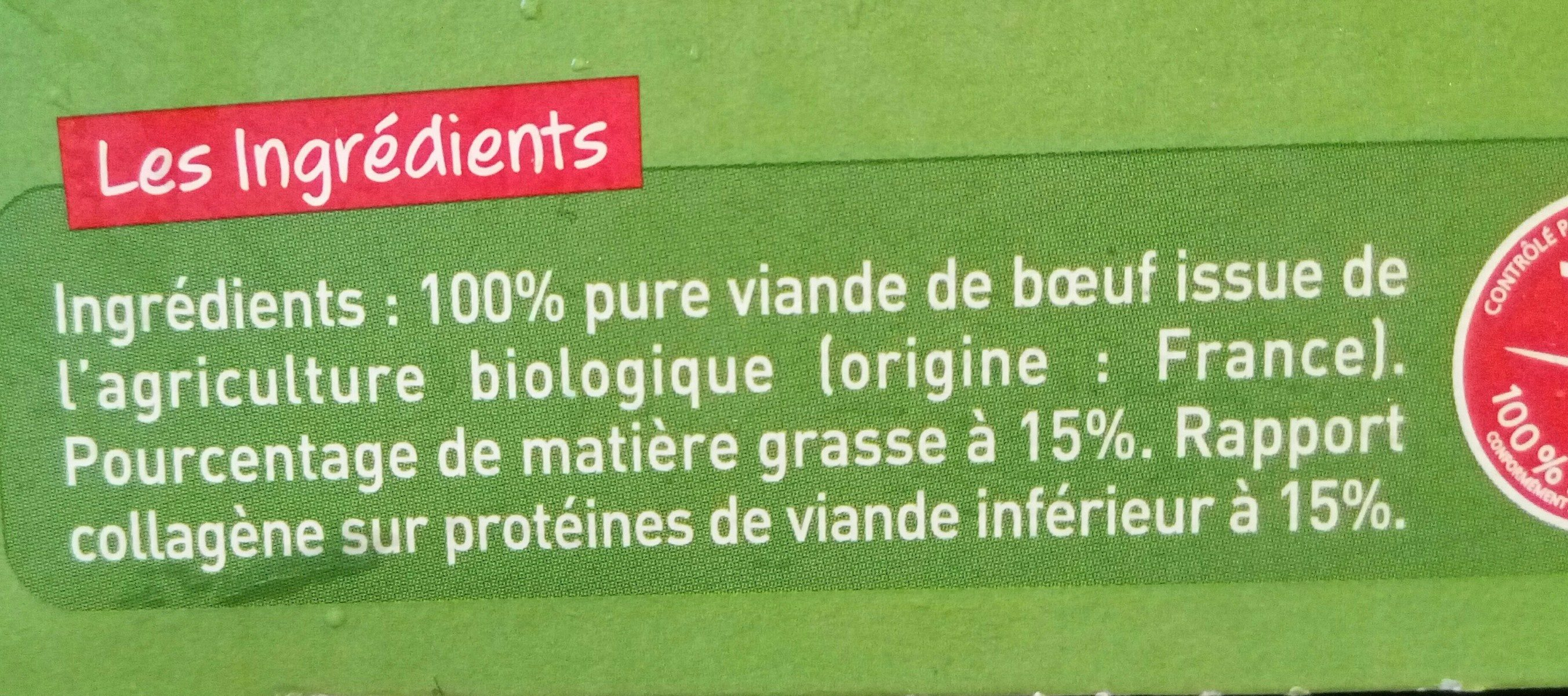 Biftecks hachés - Ingredients - fr