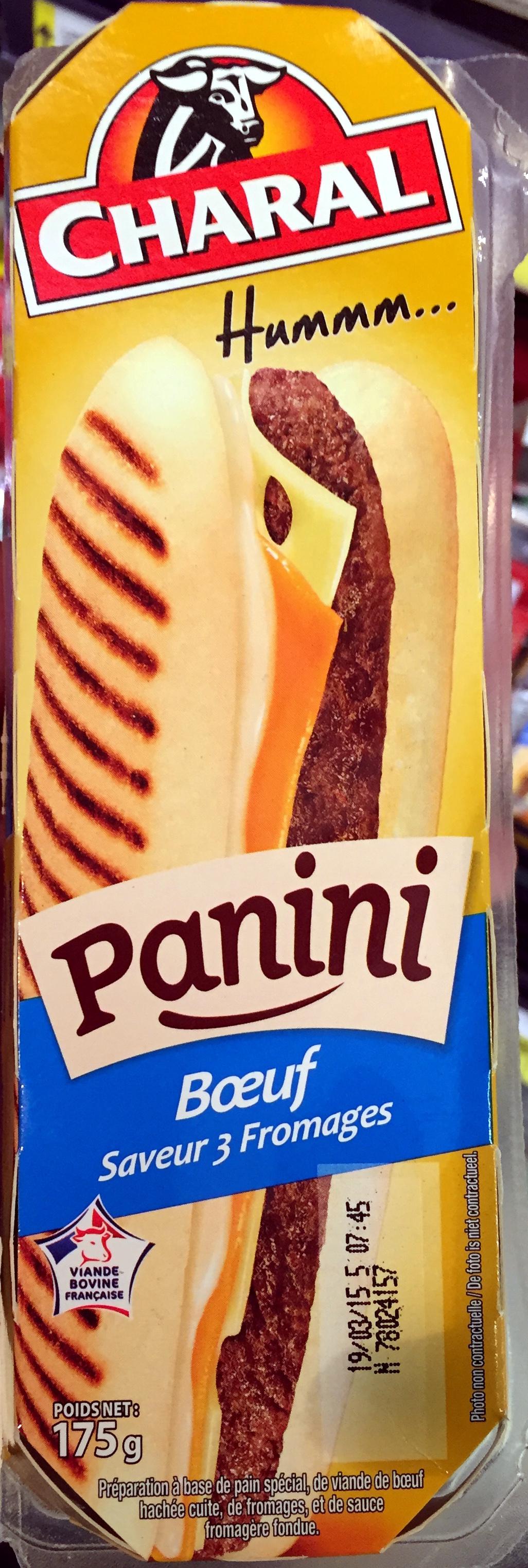 Panini Boeuf saveur 3 Fromages - Produit - fr