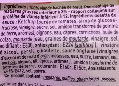 Tartare aux couteaux & sa sauce - Ingredients
