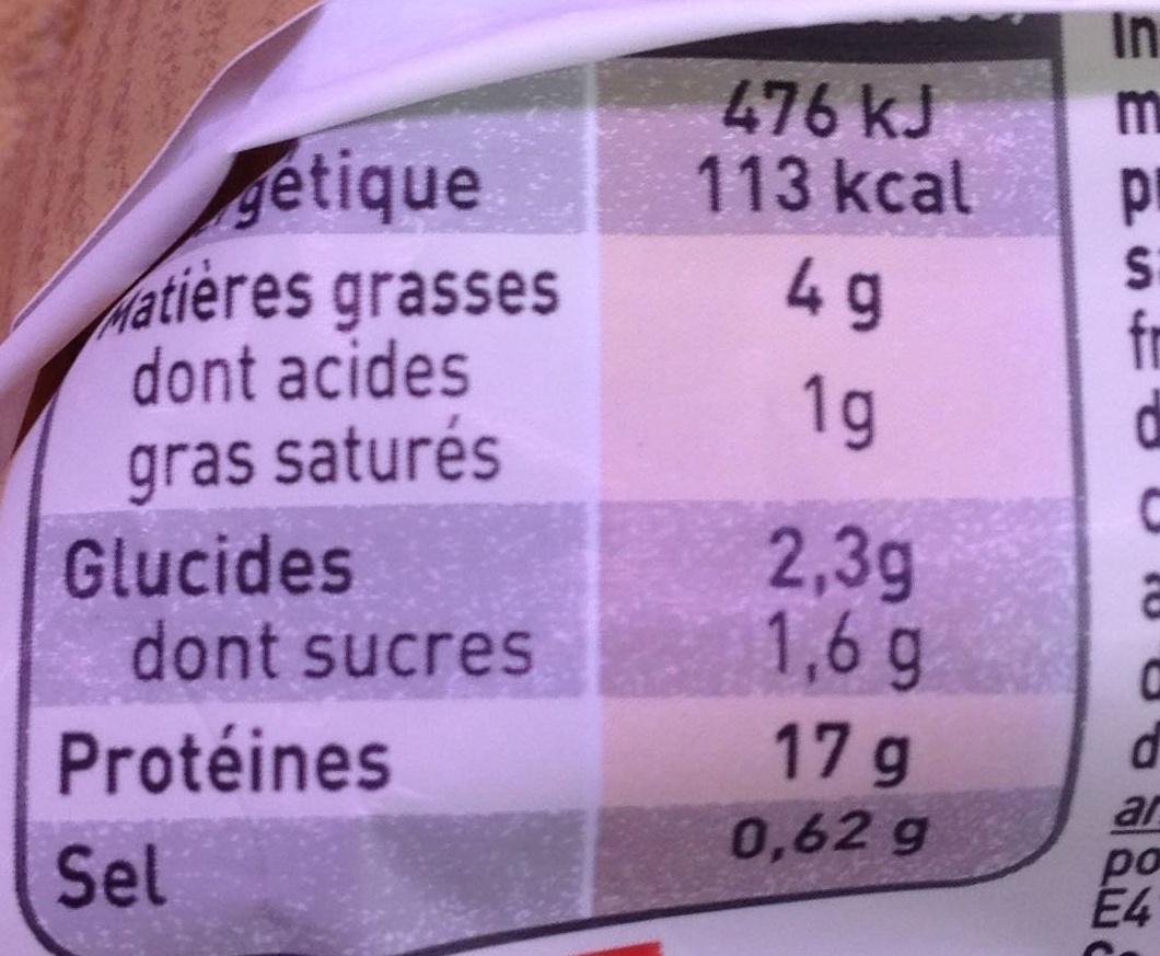 Tartare aux couteaux & sa sauce - Nutrition facts
