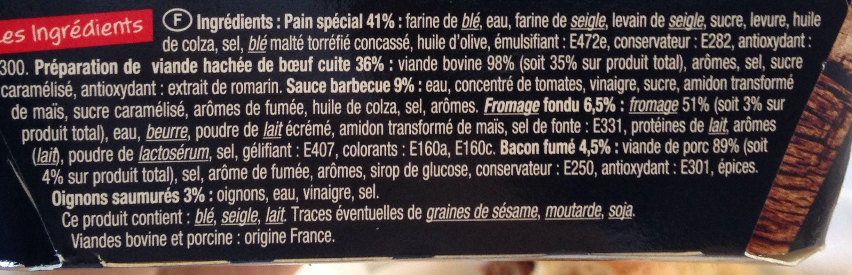 Burger saisonnier - Ingrédients - fr