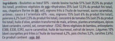Boulettes au bœuf à l'Orientale - Ingrédients - fr