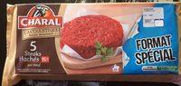 5×120 g steaks hachés Charal pur bœuf 15 % - Produit - fr
