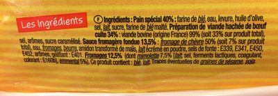 Panini aux 3 fromages - Ingredients - fr