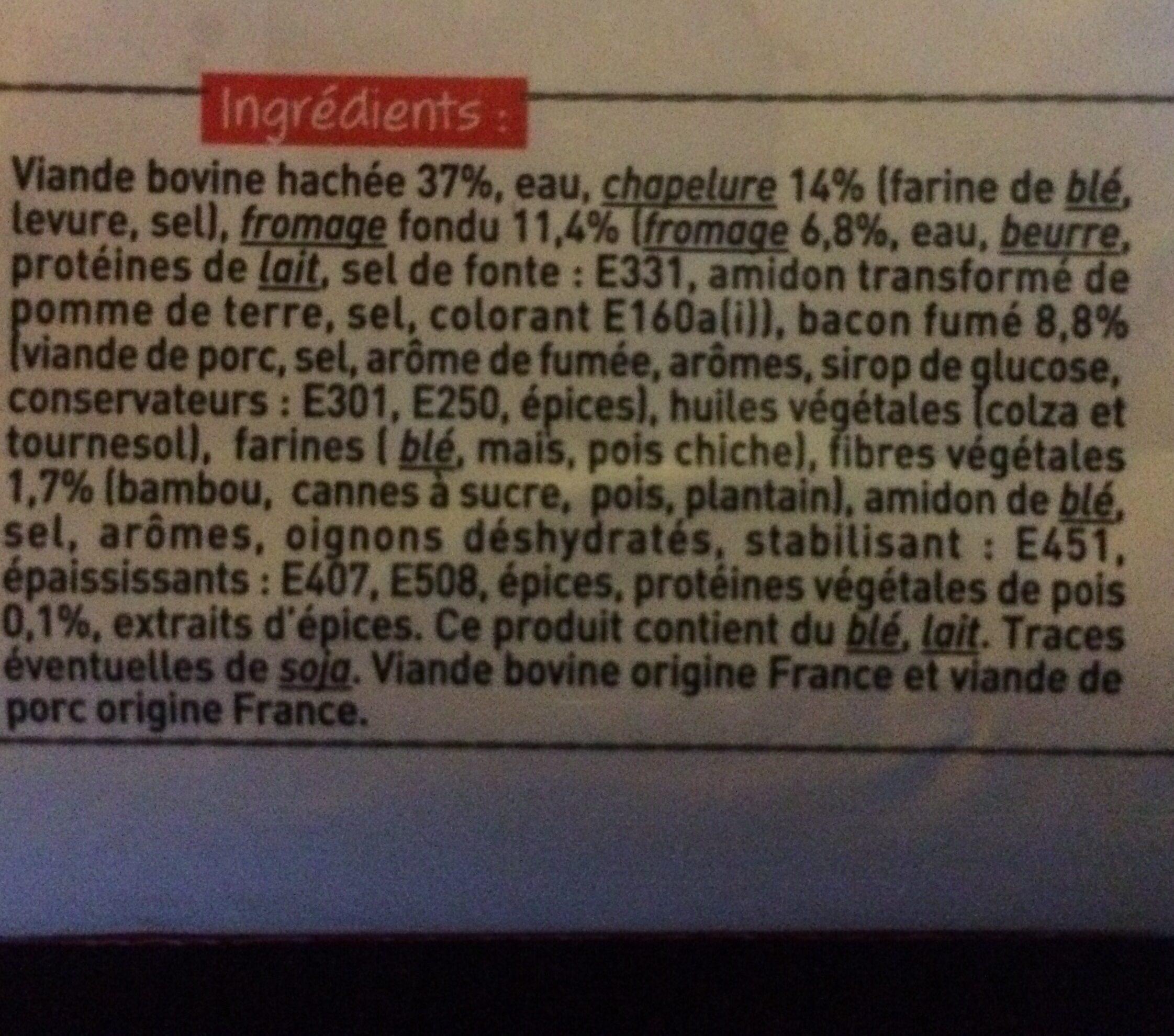 Boeuf Haché (85% de Maigre / 15% de Matières Grasses, Pâté, Cuit, Grillé) - Ingrédients
