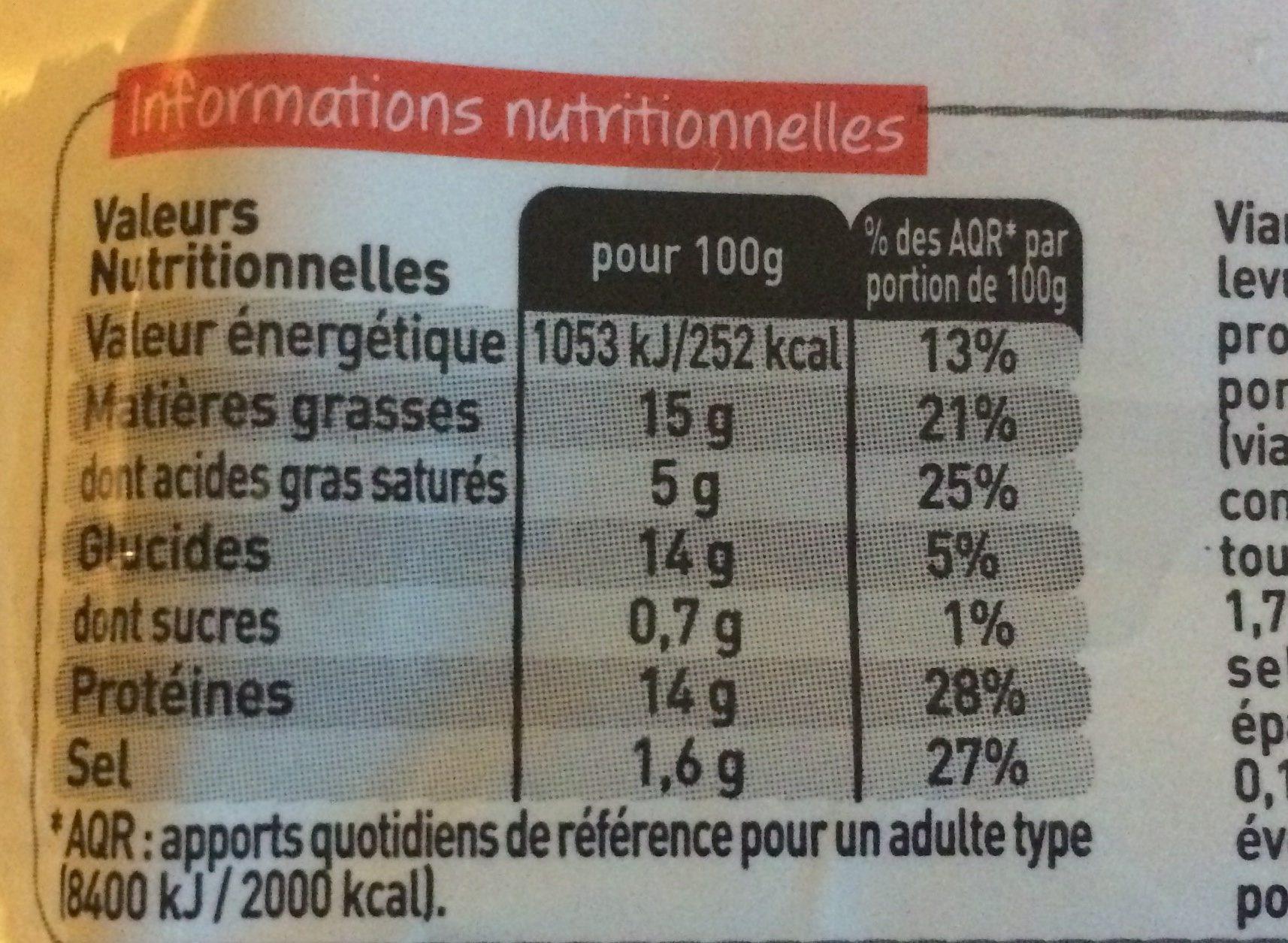 Boeuf Haché (85% de Maigre / 15% de Matières Grasses, Pâté, Cuit, Grillé) - Informations nutritionnelles