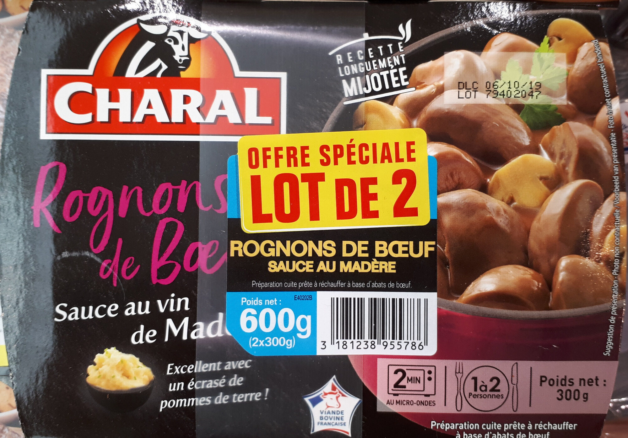 Rognons de boeuf sauce au vin de madère - Product - fr