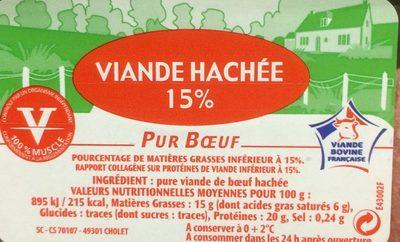 Viande hachée 15% Pur Boeuf - Ingredients