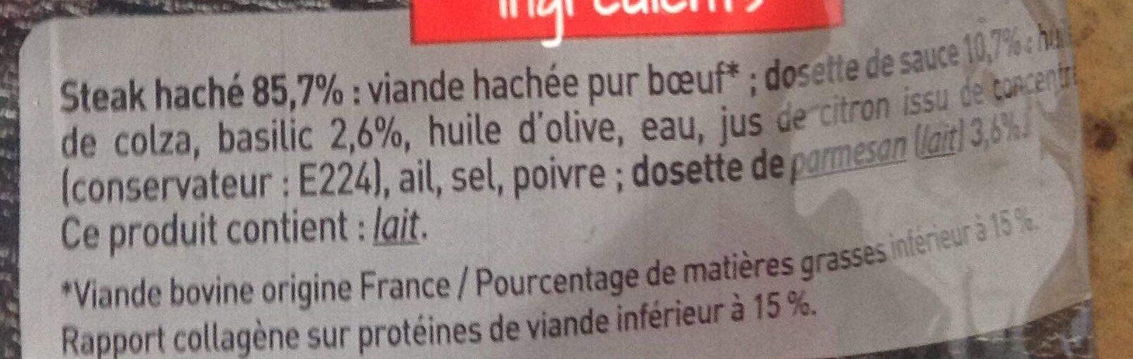 Le haché gourmand - Ingredients