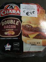 Double bacon burger - Produit - fr