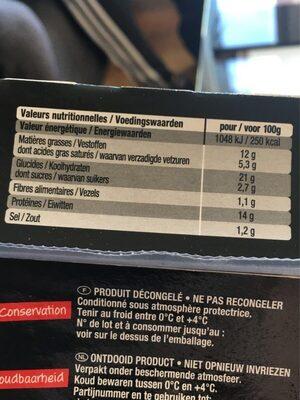 Double bacon burger - Informations nutritionnelles - fr