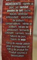 Fuet - Ingrediënten
