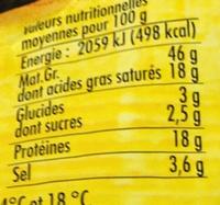 Chorizo avec piment rouge de Murcie Doux (+10% gratuit) - Información nutricional - fr