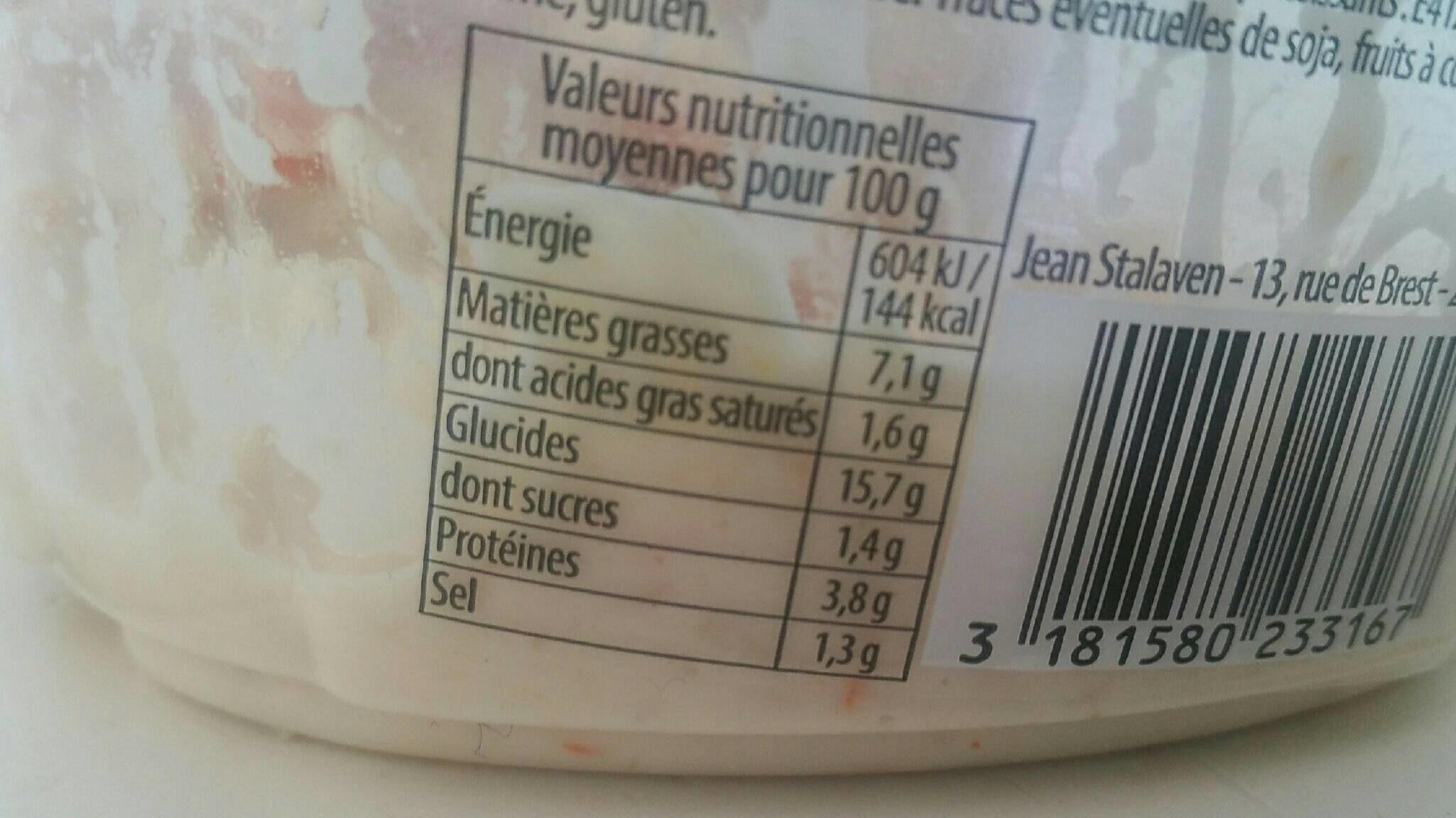 Riz Au Crabe, La Barquette De - Nutrition facts