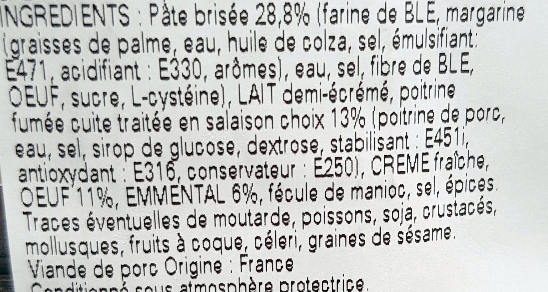 Quiche lorraine Stalaven - Ingredients