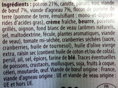 Duo de bœuf et agneau & son écrasé de potiron - Ingrédients - fr