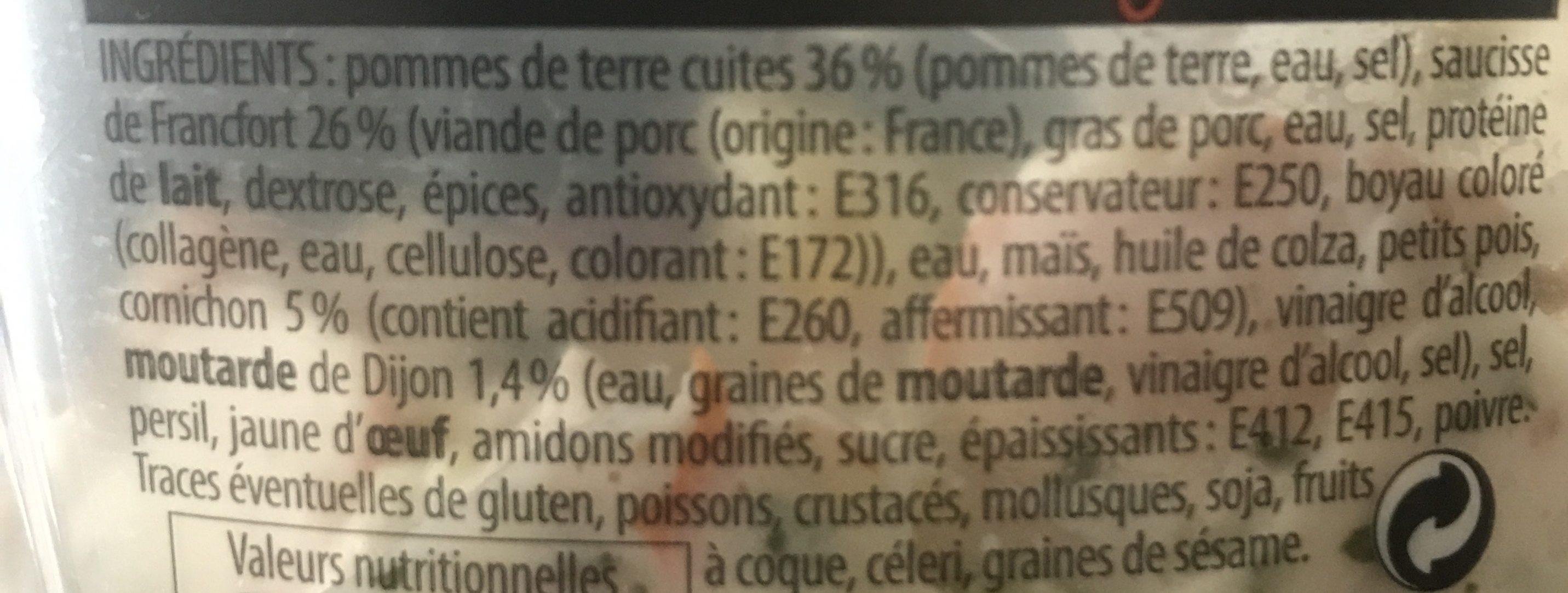 Salade strasbourgeoise - Leclerc