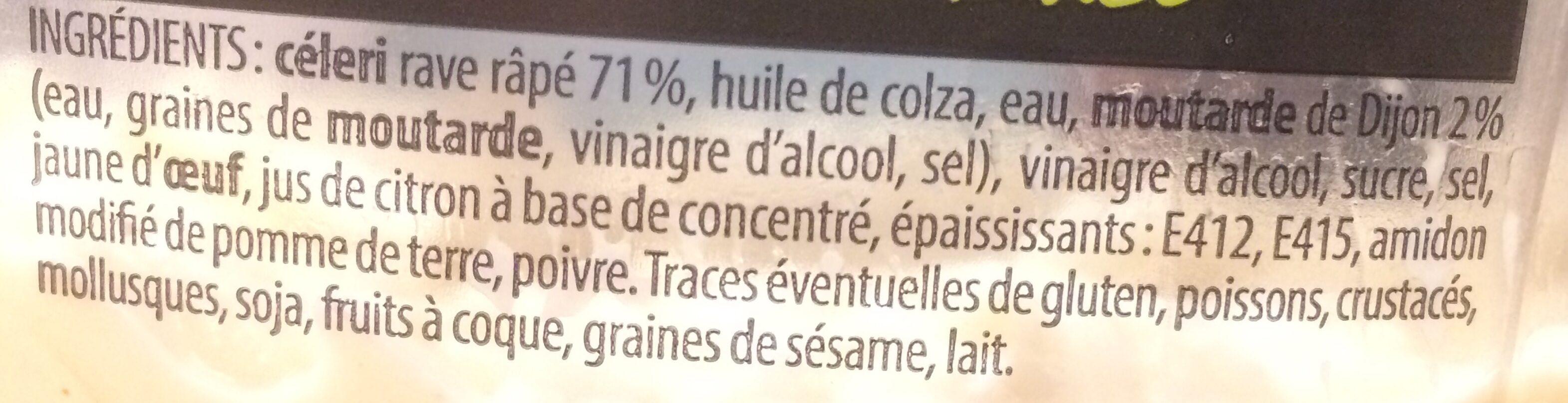 Céleri rémoulade - Ingrédients - fr