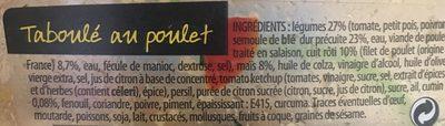 Taboulé au poulet roti - Ingrédients - fr
