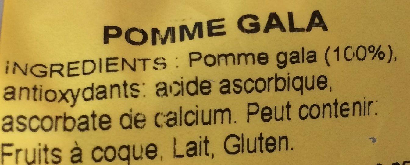 Pomme Gala - Ingrédients