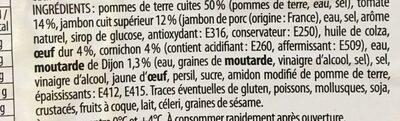 Salade piémontaise au jambon (+20% gratuit) - Ingrédients
