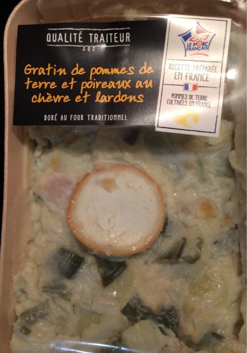 Gratin de pommes de terre et poireaux au chèvre et lardons - Product - fr