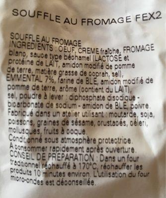 Soufflé au fromage - Ingrédients