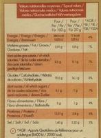 Pain grillé campagnard - Informations nutritionnelles - fr