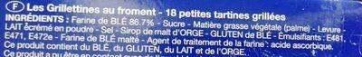 Les Grillettines Froment - Ingrediënten - fr