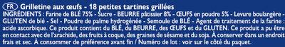 Grilletine Briochée x18 - Ingrédients - fr
