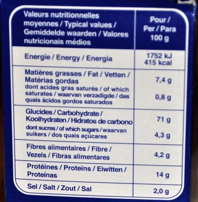 Minis Apéro Froment - Nutrition facts