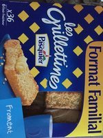 Biscottes tartines grillées froment Pasquier - Product - fr