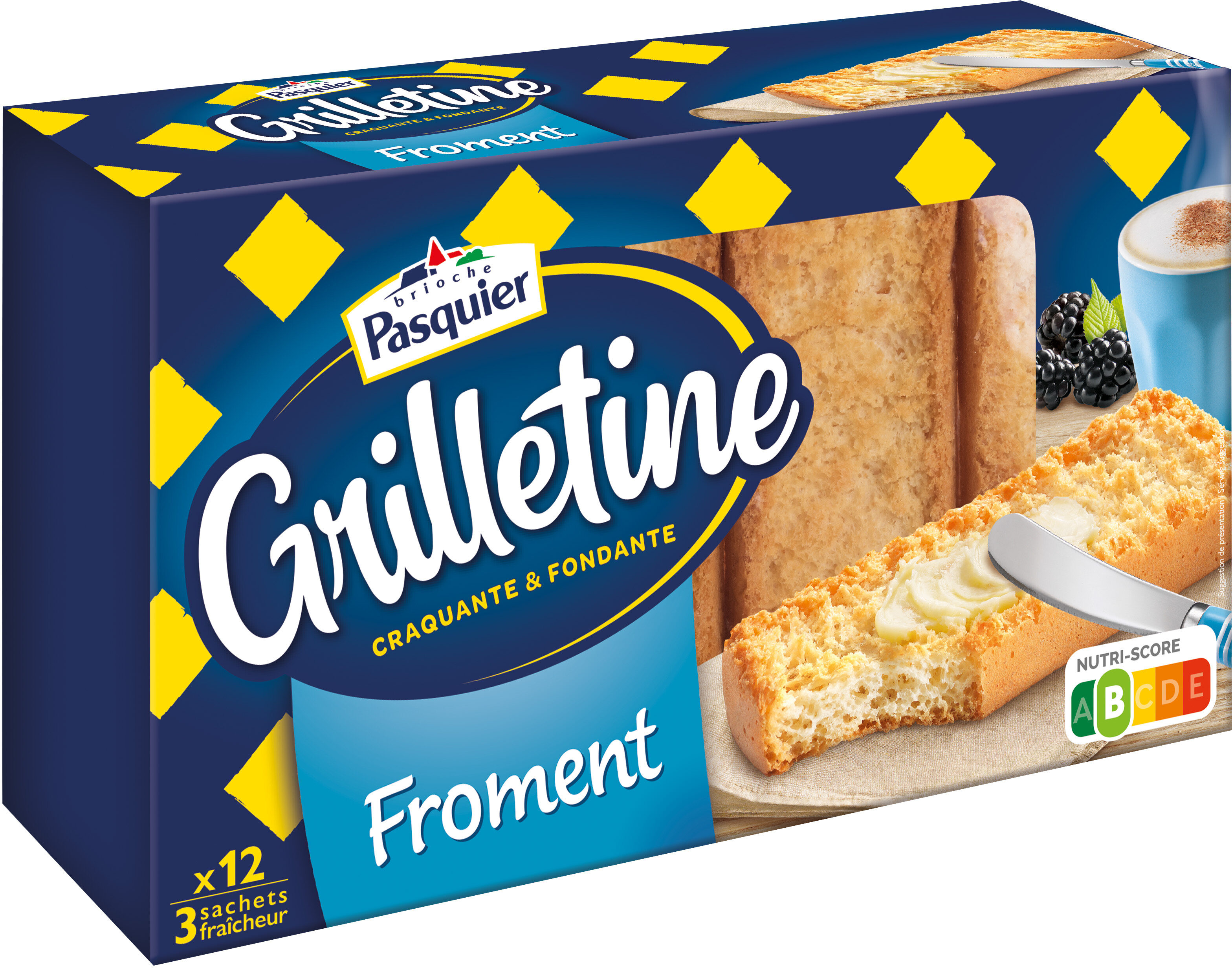 Grilletine Froment x12 - Product - fr