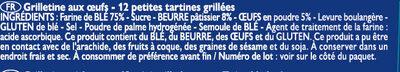 Grilletine Briochée x12 - Ingredients - fr