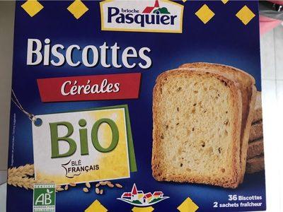 Biscottes céréales bio - Produit