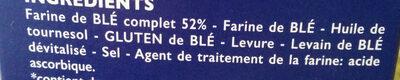 Biscottes SSA Blé complet - Ingrédients - fr