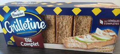 Wholemeal wheat Grilletine - Produit - fr