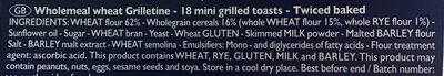 Wholemeal wheat Grilletine - Ingredients - en