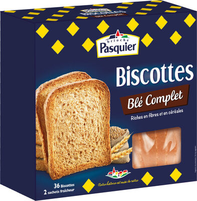 Biscottes Blé Complet 36tranches 300g - Produit - fr