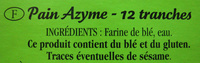 Le Pain Azyme Equilibre - Ingredients - fr