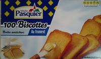 Biscottes Au Froment (x 100) - Brioche Pasquier - Product - fr