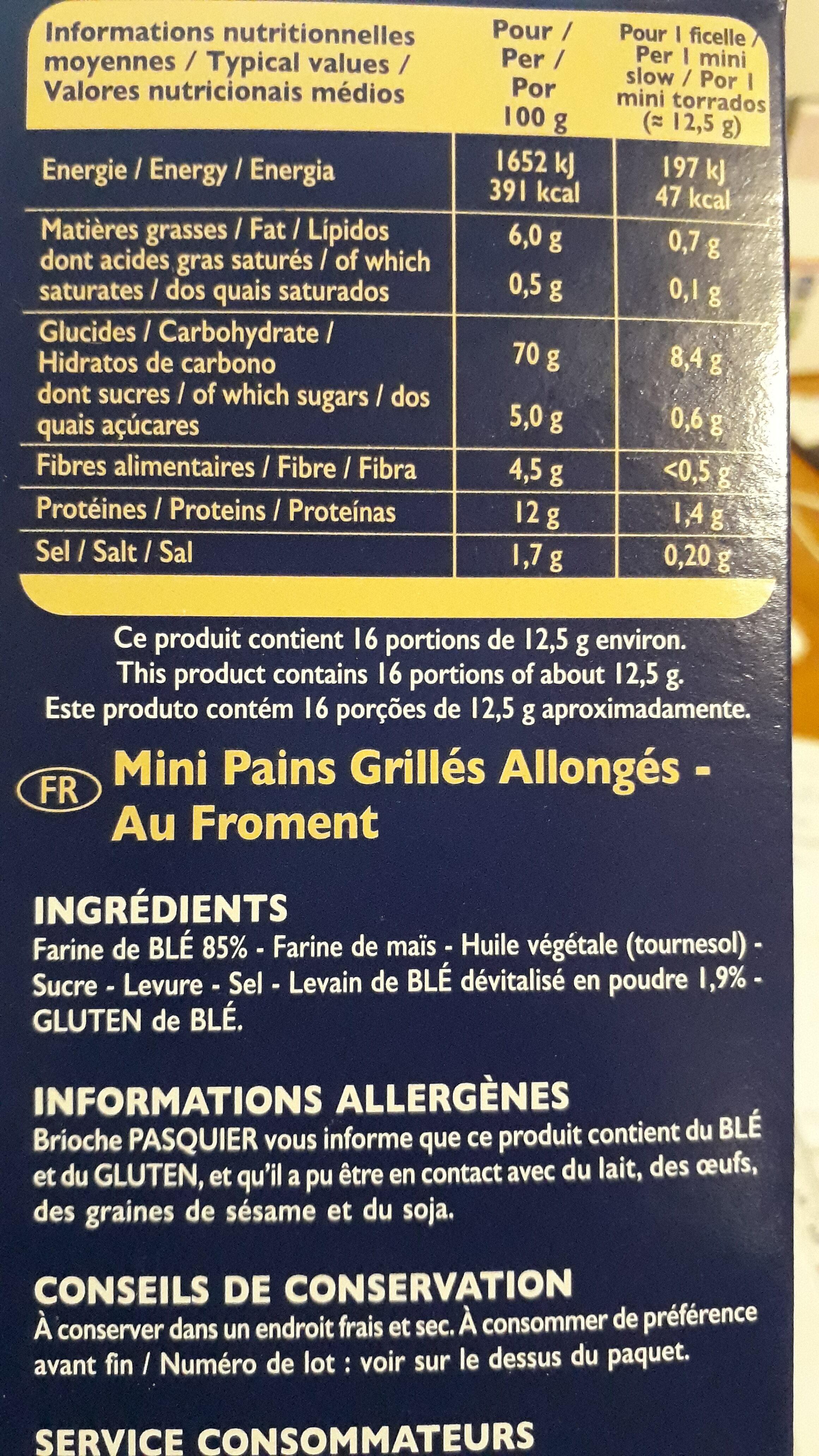 Ficelles de pain - Ingrédients - fr