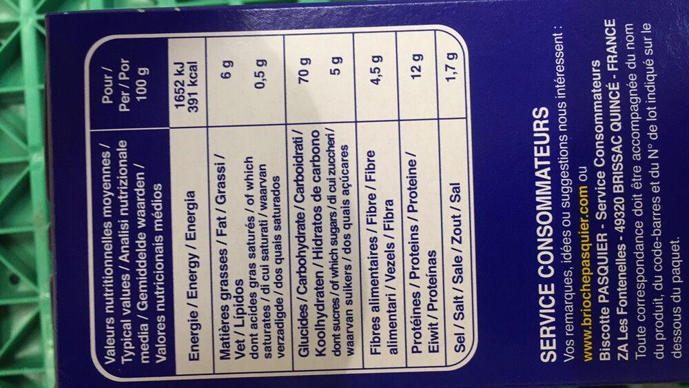 Ficelles de pain - Informations nutritionnelles - fr