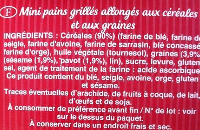 Ficelles de Pain Recette Sésame pavot - Ingredients