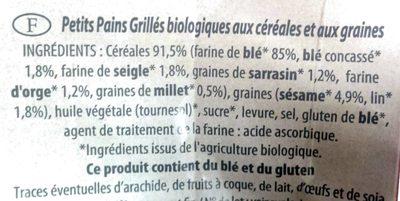 Petits Pains Grillés - Ingredients - fr
