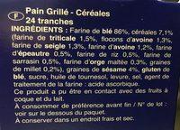 Tartines de Pain multi-céréales - Ingredients - fr