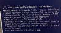 Tartines de Pain multi-céréales - Nutrition facts - fr
