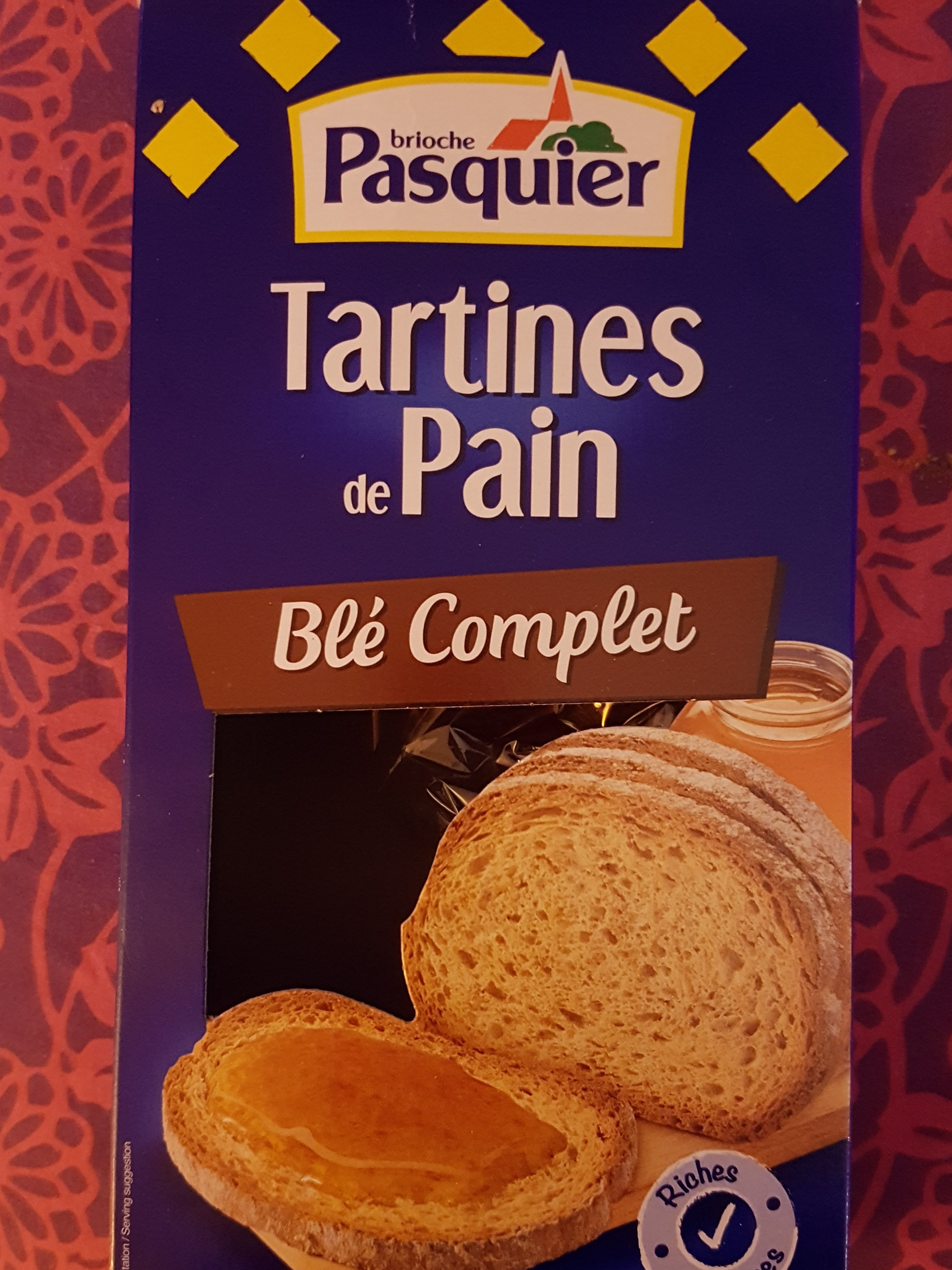 Tartines de Pain Blé Complet ×24 Tranches - Product - fr
