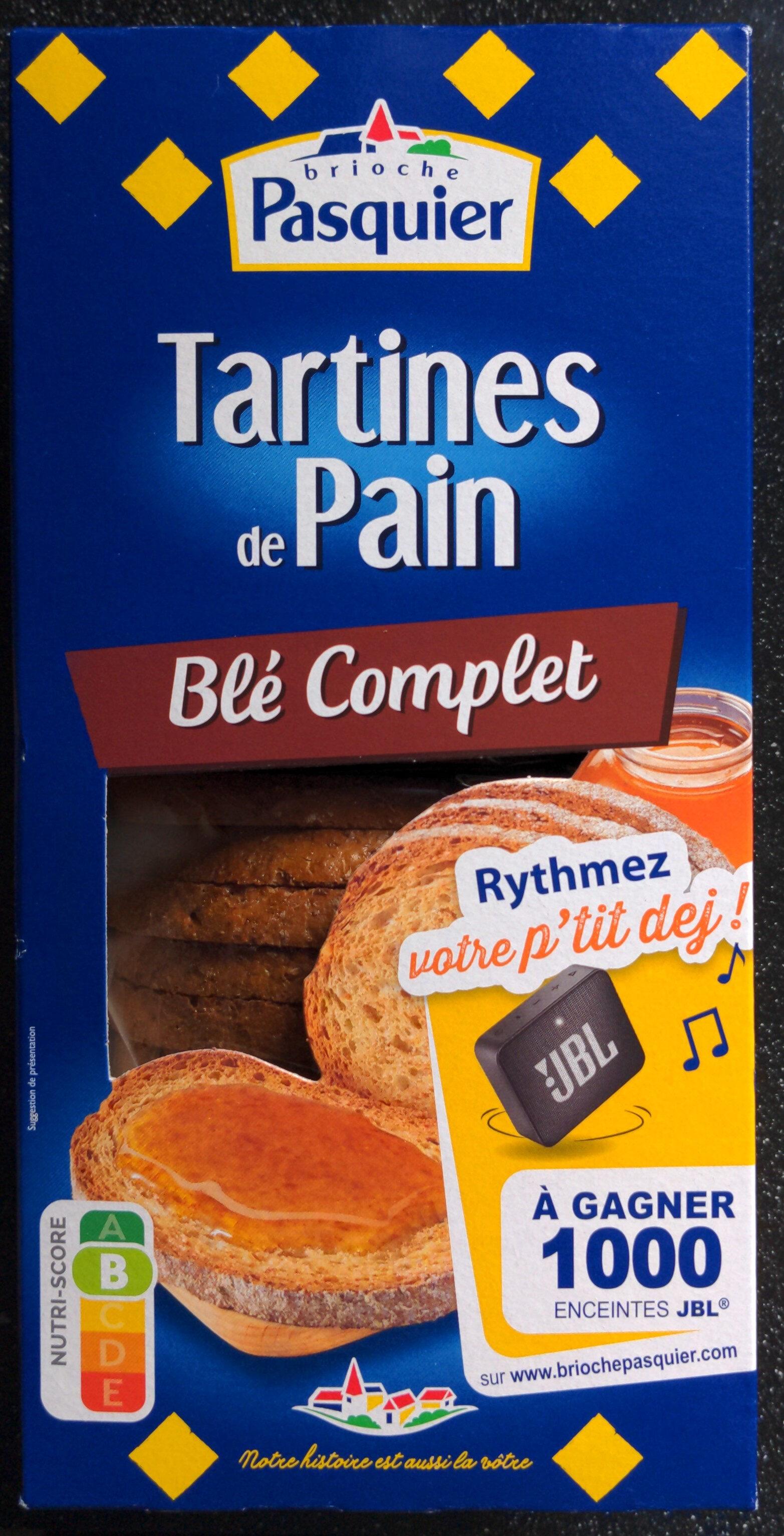 Tartines de Pain Blé Complet ×24 Tranches - Produit - fr