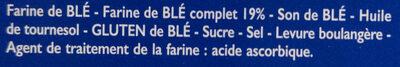 Tartines de Pain Blé Complet ×24 Tranches - Ingrédients - fr